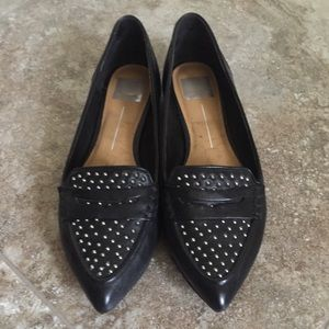 Dolce Vita Black Studded Loafers 9.5